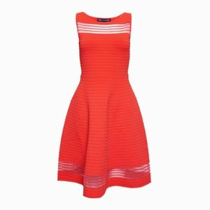 French Connection Tobey Crepe Skater Dress - Small